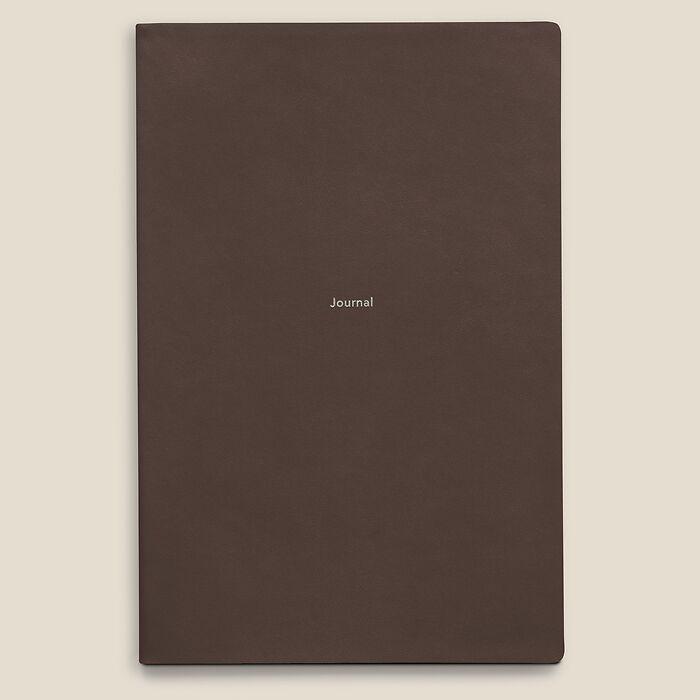 Journal L Notizbuch liniert French Roast