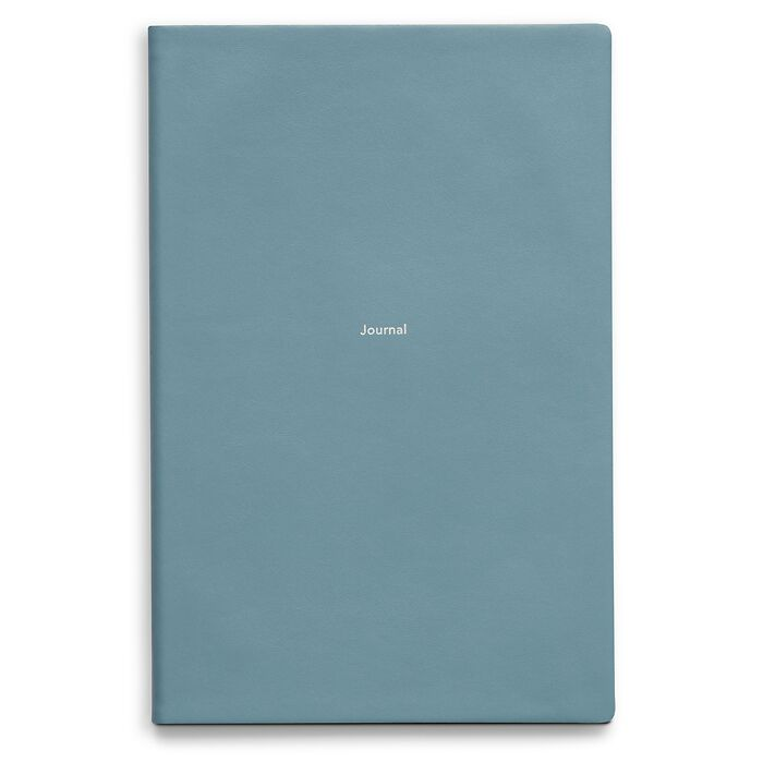 Journal L Notizbuch liniert Pigeon Blue