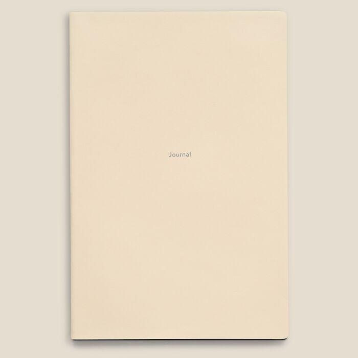Journal L Notizbuch blanko White Truffle