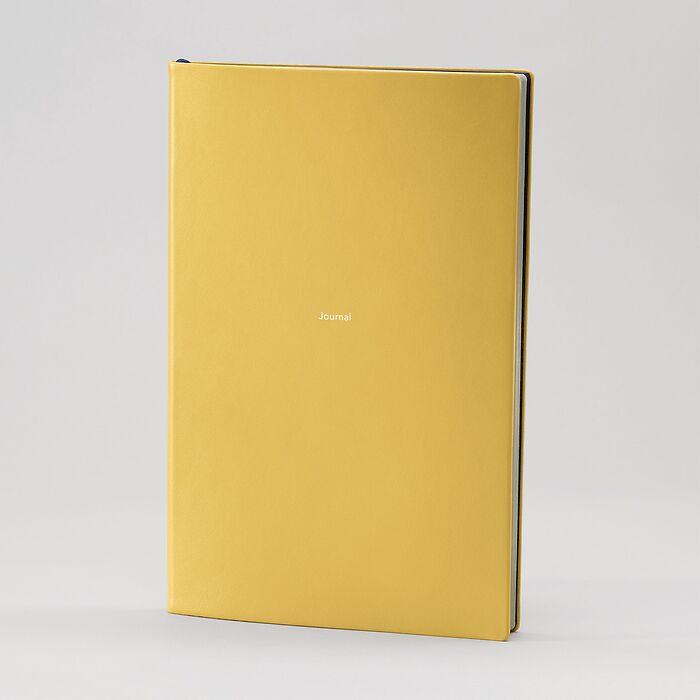 Journal L Notizbuch liniert Mustard